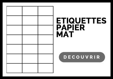 Etiquette adhésive mat