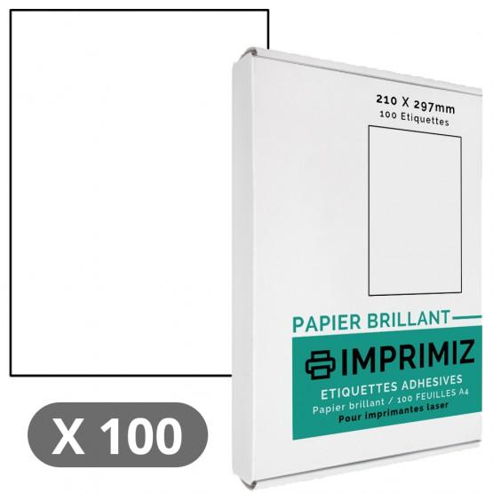 100 Feuilles A4 - Papier Brillant