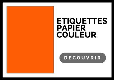 Etiquette adhésive couleur