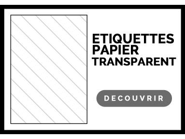 Étiquette adhésive transparent